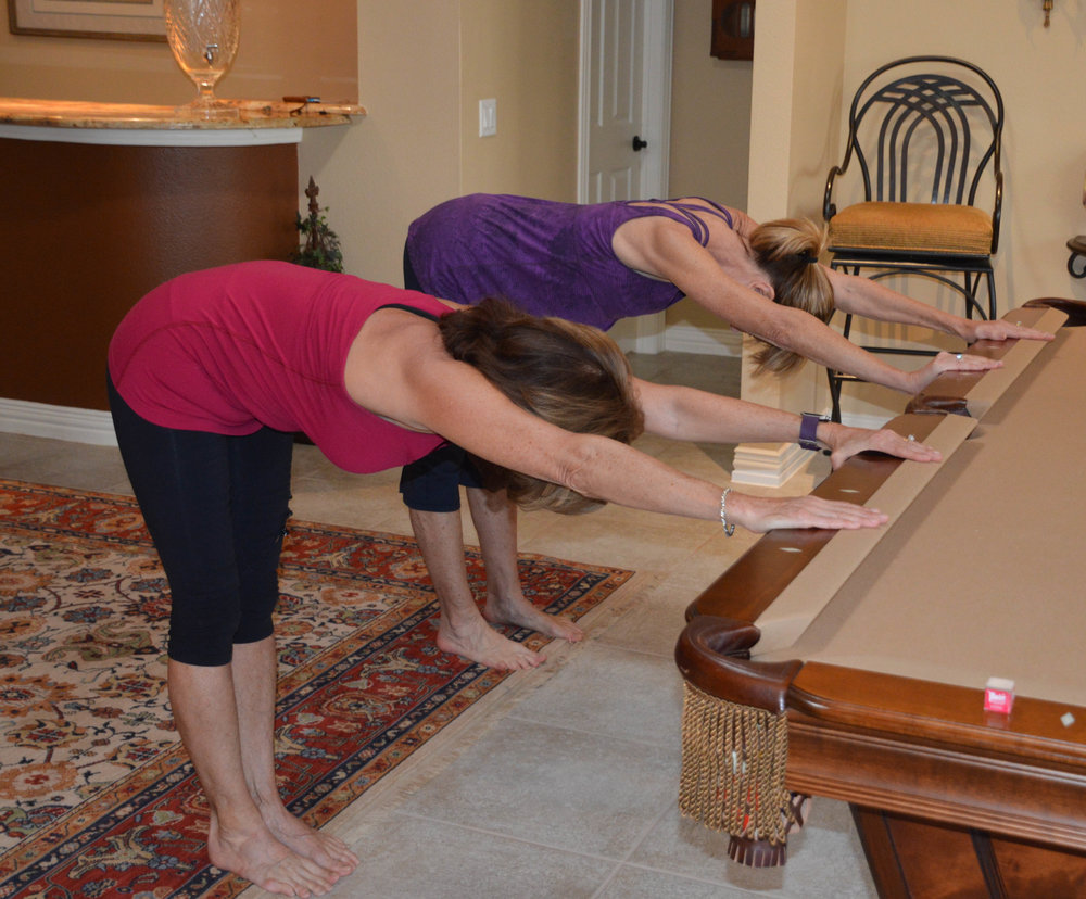 No Time?  Try a quick standing Down Dog, by holding and stretching at a table or your kitchen counter.