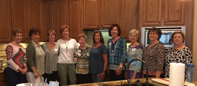From Left: Nancy Neal, Carol DeLong, Linda Diehnelt, Ann Brackeen, Cindy Oliver, Connie Cline, Aynn Riback, Karolyn Nelson, Shirley Waterhouse and Debby Redden