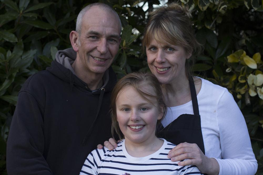 ANDREW, MELANIE AND DAISY