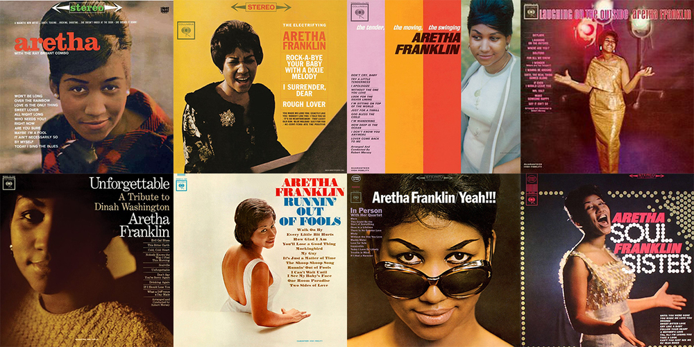 Aretha Franklin's first 8 albums, all released by Columbia Records