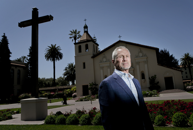 Jeff Miller is a Silicon Valley VC who is donating $25 million to his Santa Clara University alma mater to be used to fund emerging socially conscious programs throughout the world at Santa Clara University in Santa Clara, Calif., on Thursday, April 23, 2015. (LiPo Ching)