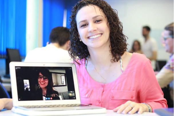 Mayra and Amanda (via Skype) at Boost.