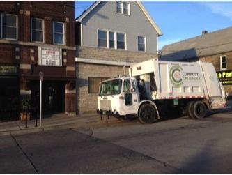 Compost Crusader's biodiesel compost truck