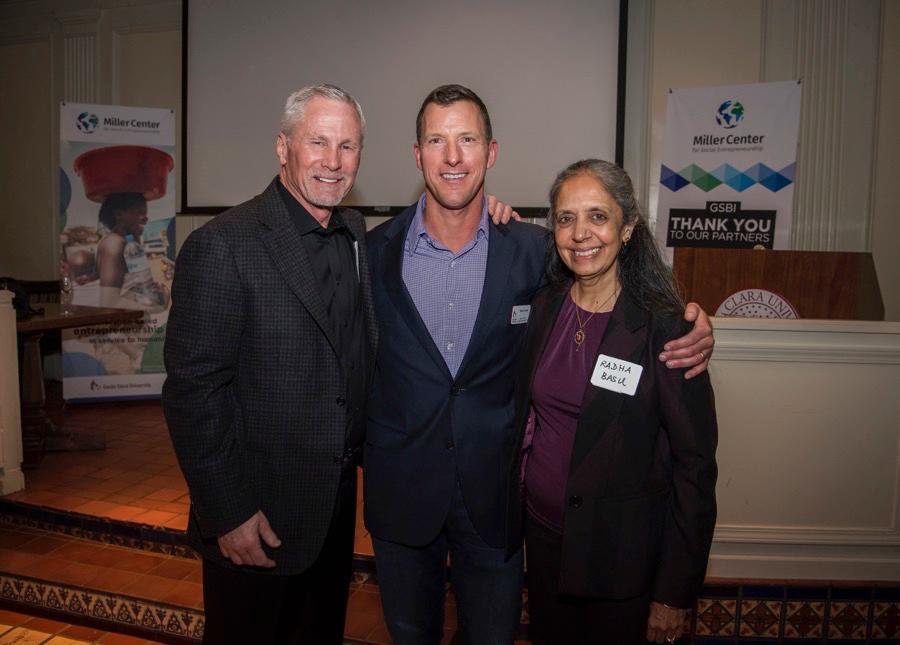 Jeff Miller, Thane Kreiner, and Rahda Basu Photo credit: Joanne Lee, Santa Clara University