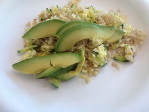 Avo, eggs, brown rice: perfect any time of day