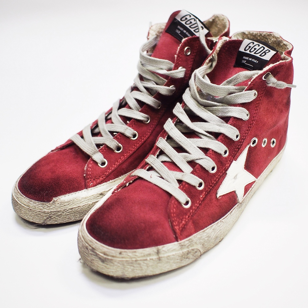 """Francy"" Golden Goose suede high top sneakers."
