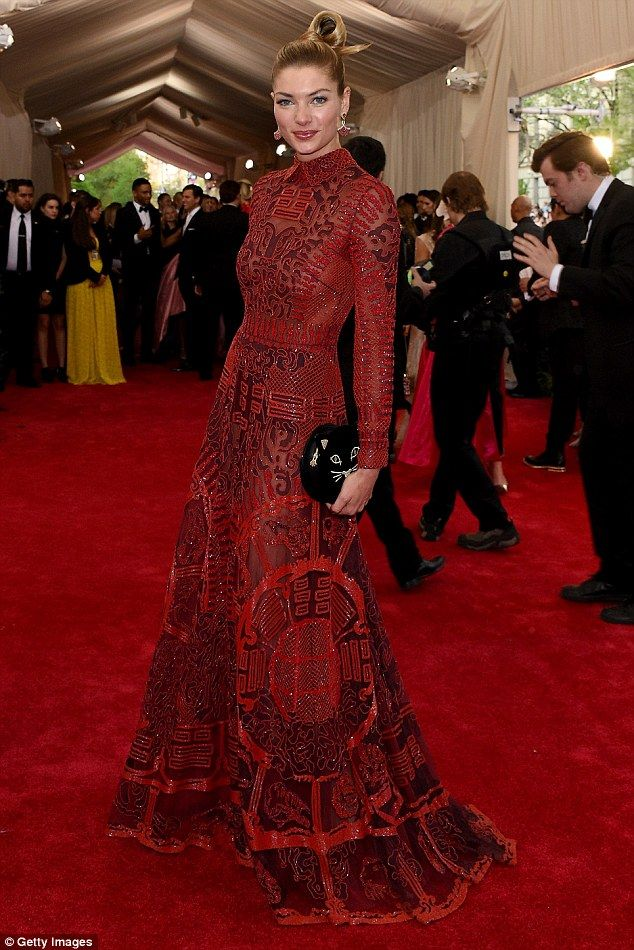 Jessica Hart in Valentino at the Met Gala 2015