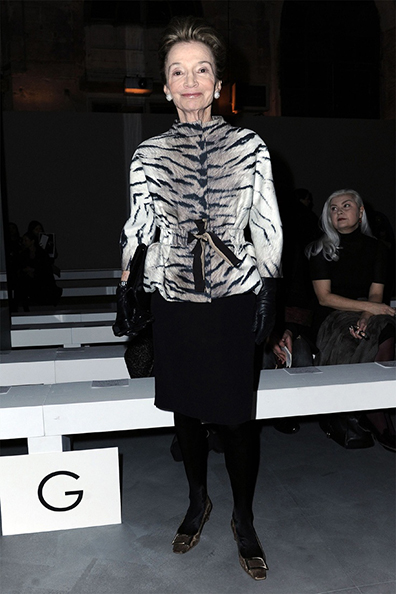 Lee Radziwill wearing Giambattista Valli at the FW 2011-12 show