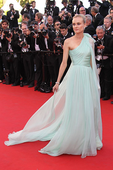 Diane Kruger wearing Giambattista Valli at the Cannes Film Festival 2012