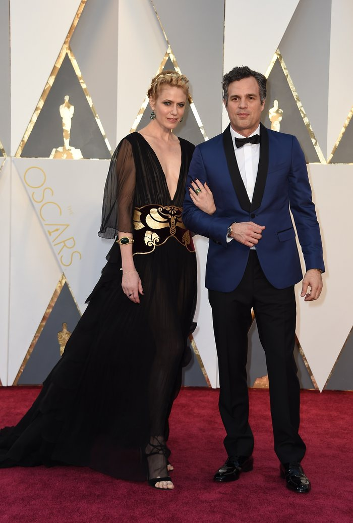 Sunshine Coigney with Mark Ruffalo - Valentino Haute Couture SS16 - Oscars 2016