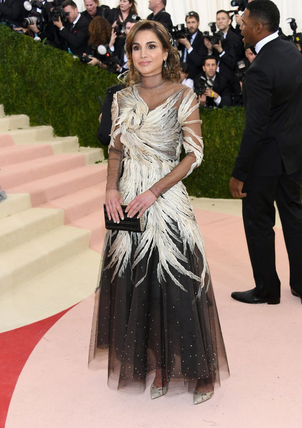 Queen Raina of Jordan in Valentino