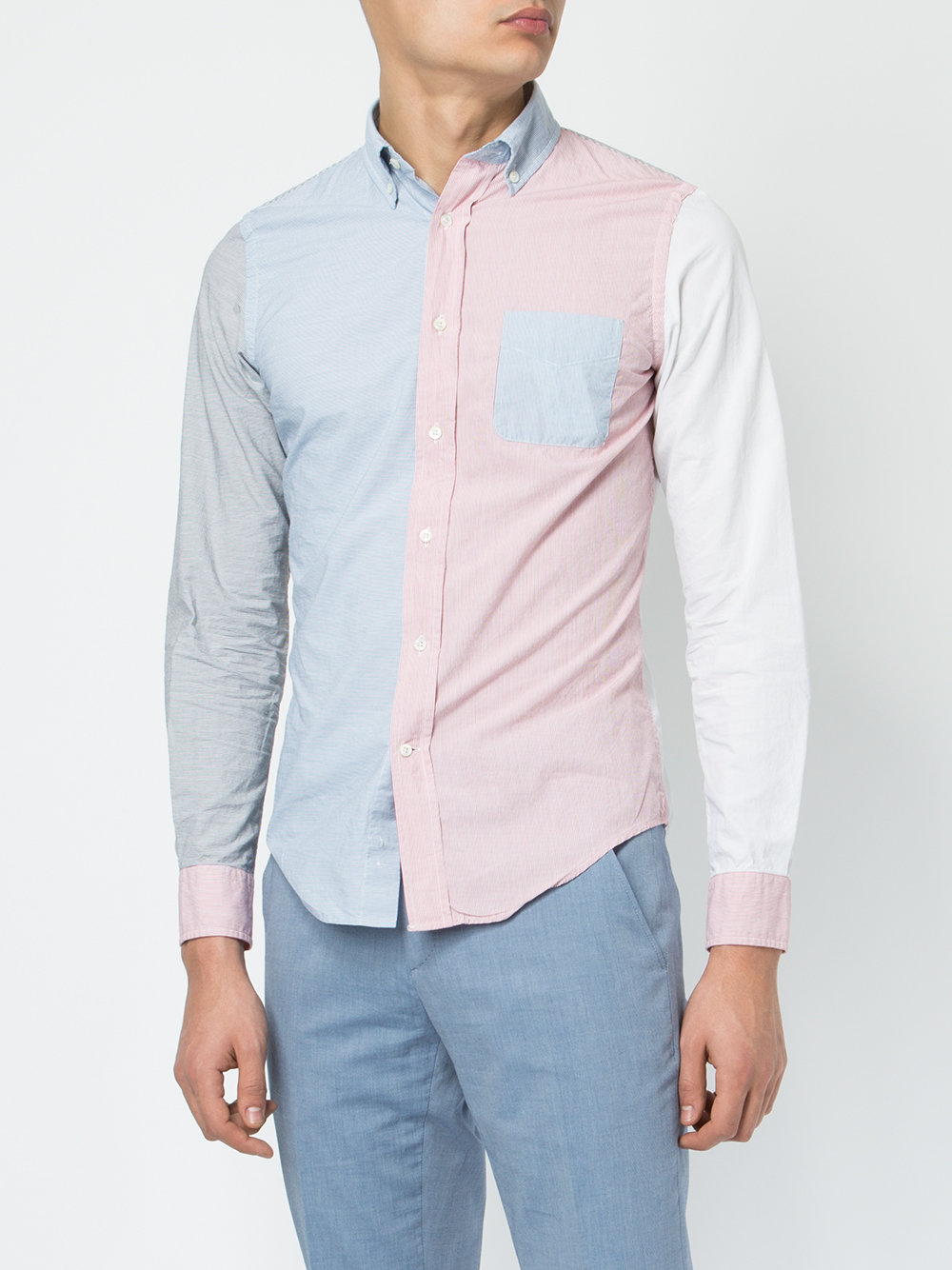 color-block shirt