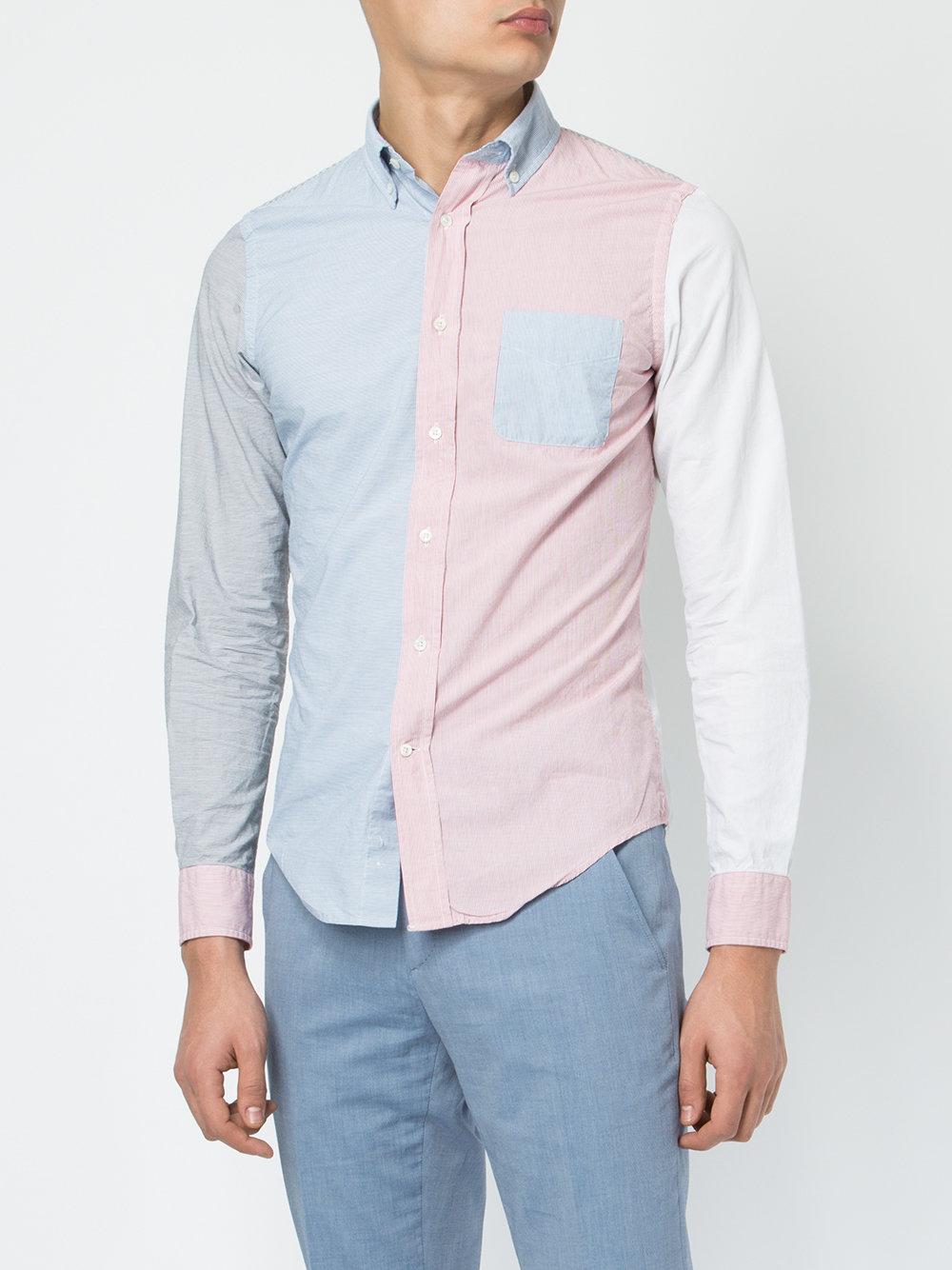 color-block shirt