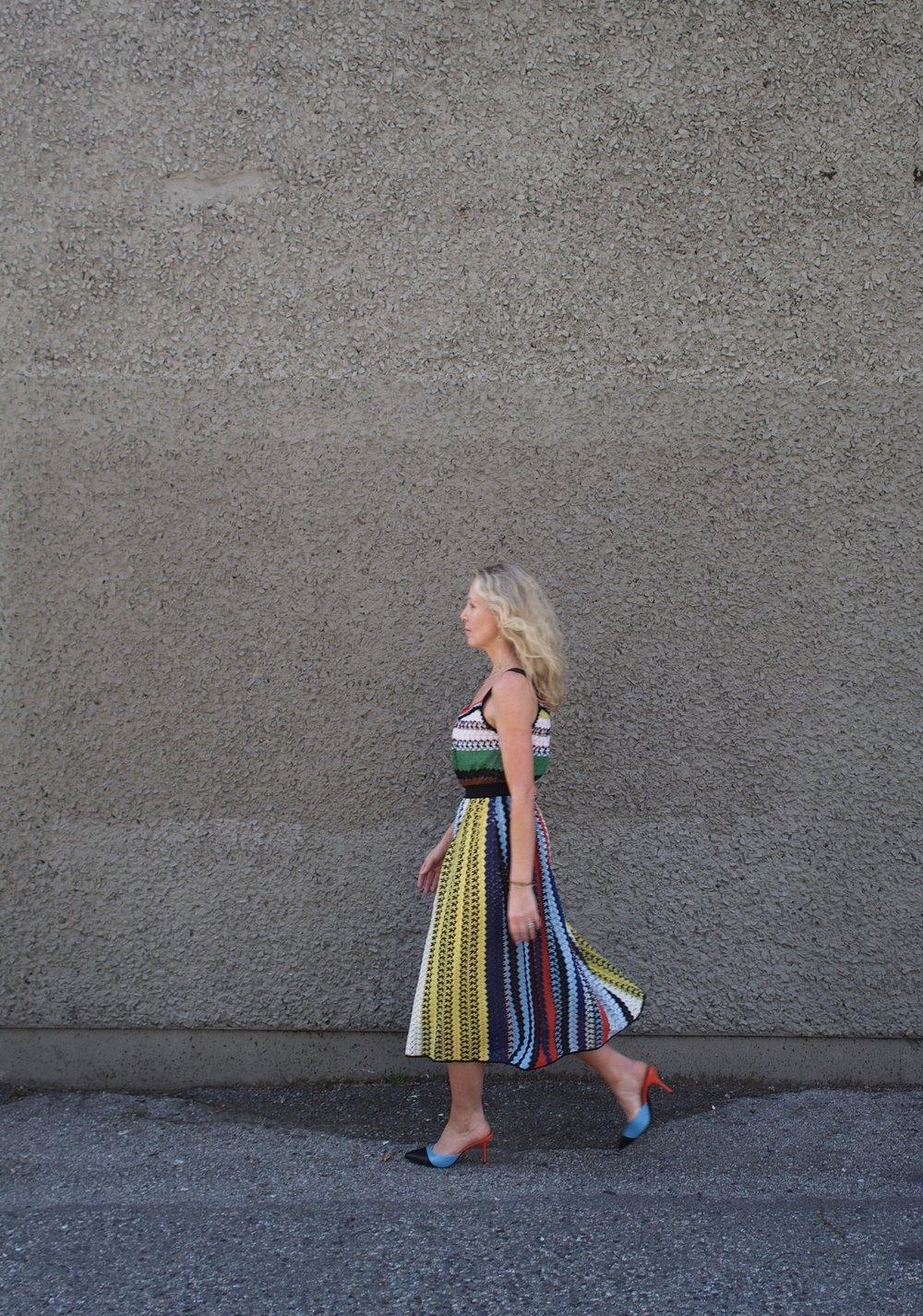 Missoni dress - Pierre Hardy mules