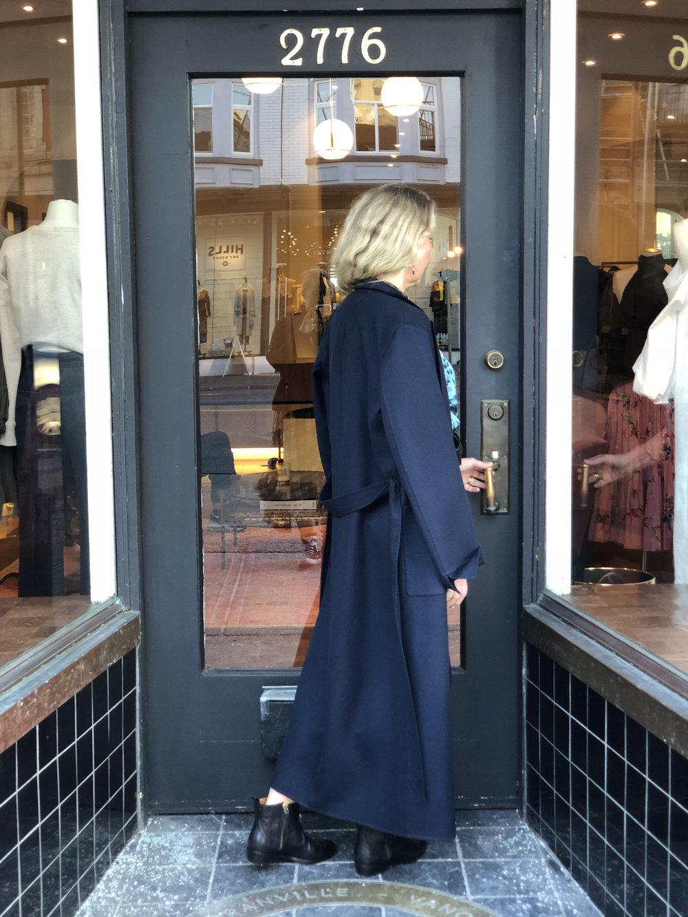 That Loro Piana coat from the back.