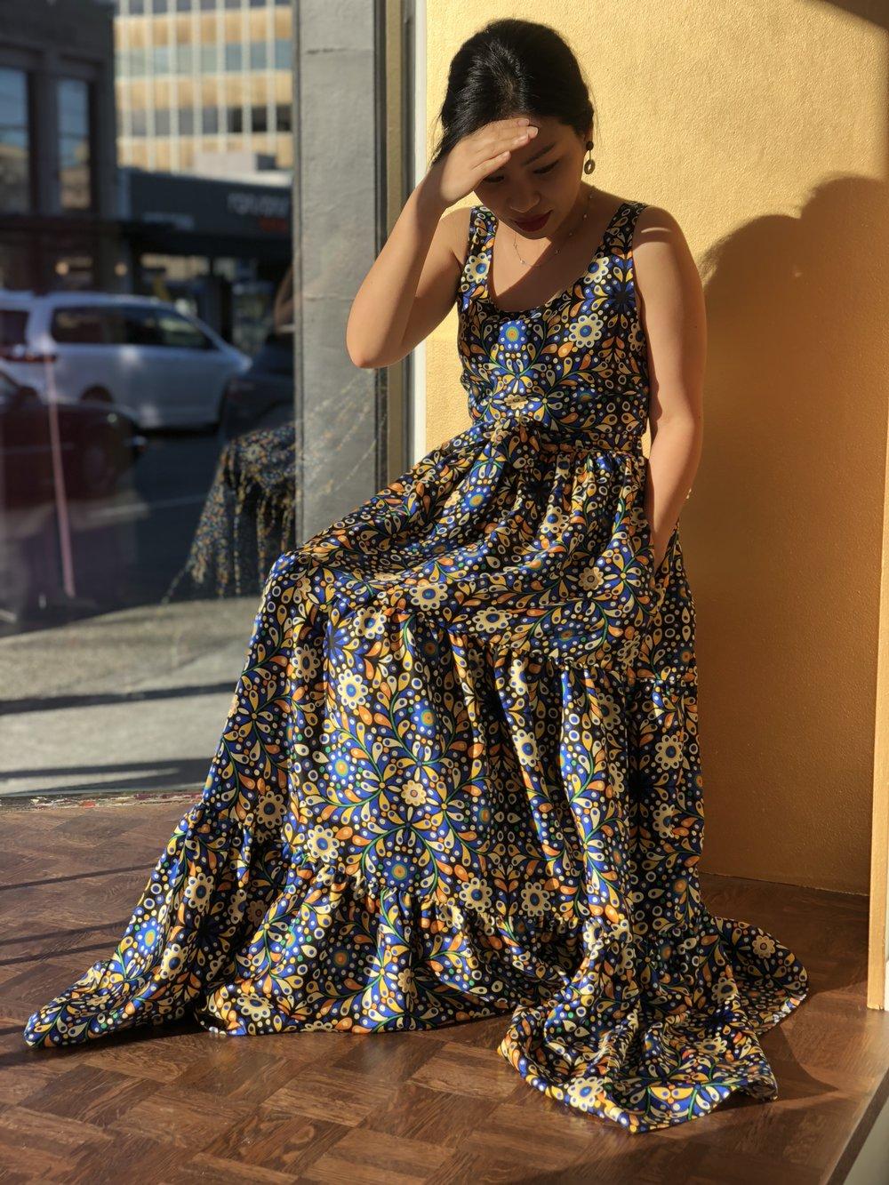 favorite Item #2 - La Double J dress. Sitting pretty . . .