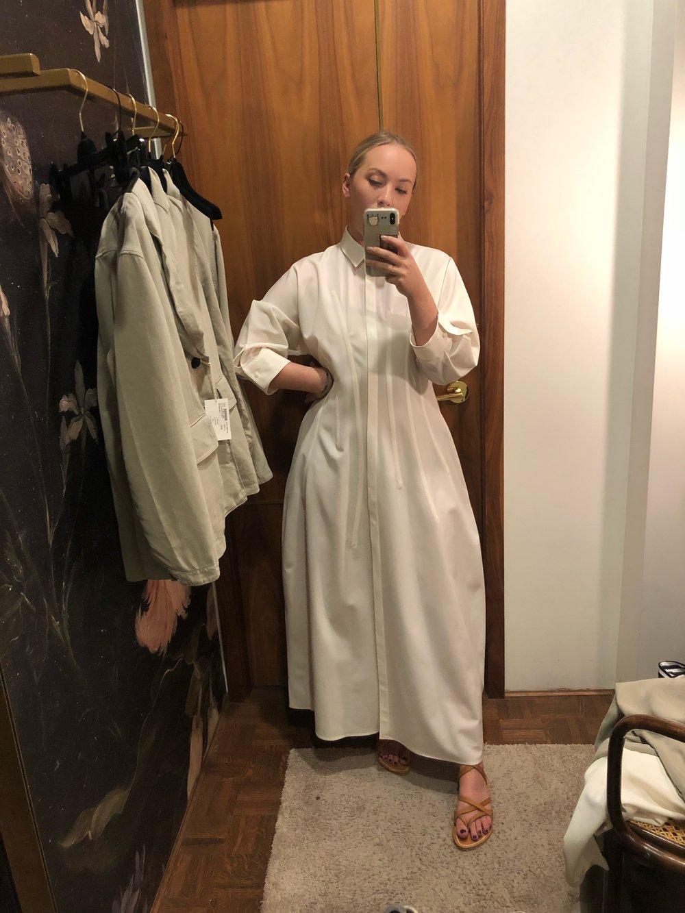 Favorite Item #1 Jil Sander dress worn by daughter #1. ps. sandals by KJaques
