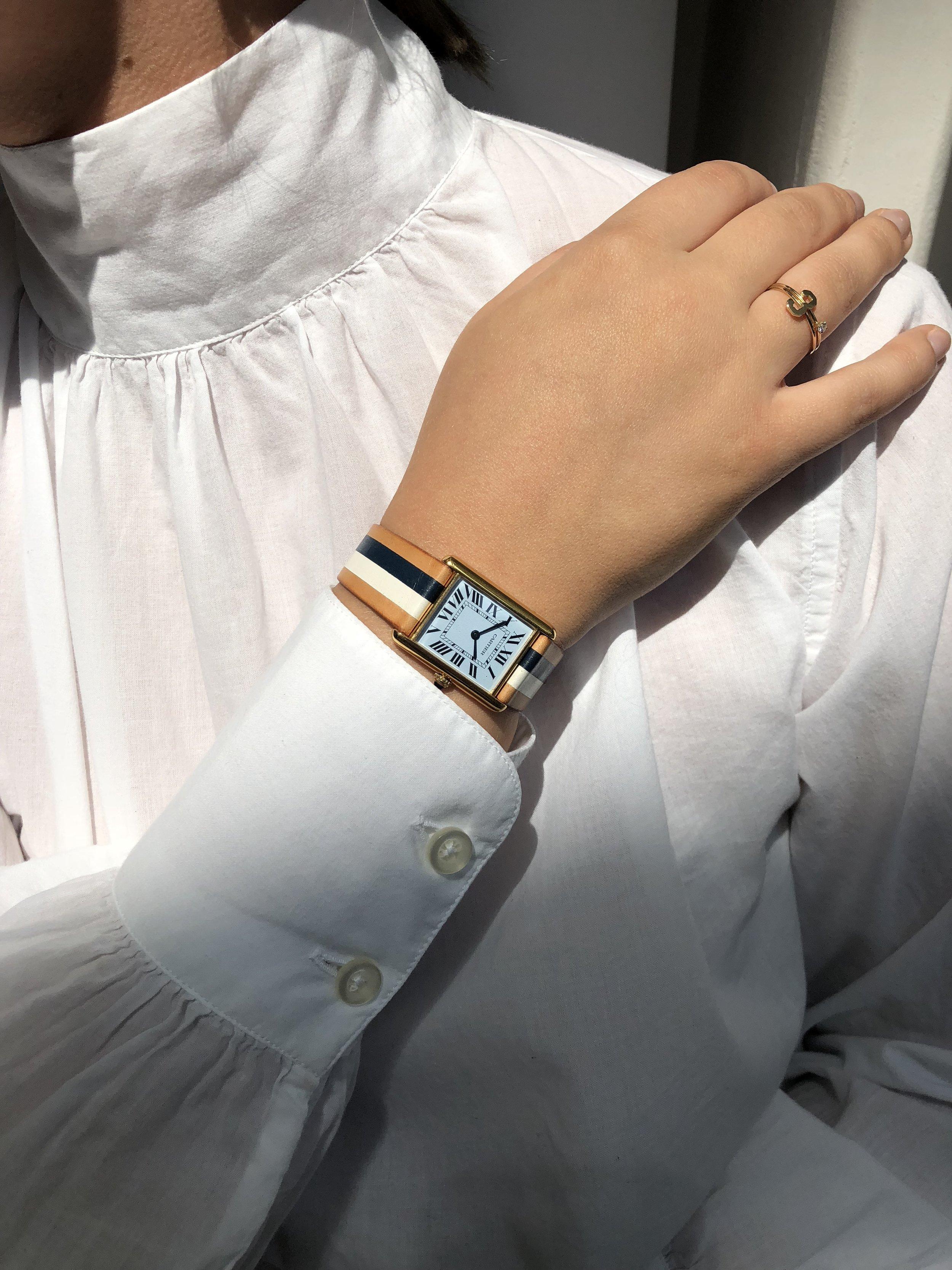 Favorite Item #2 - La californiennes re-worked vintage Cartier tank watch.