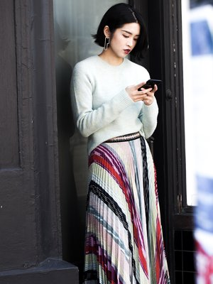 Missoni pleated skirt.