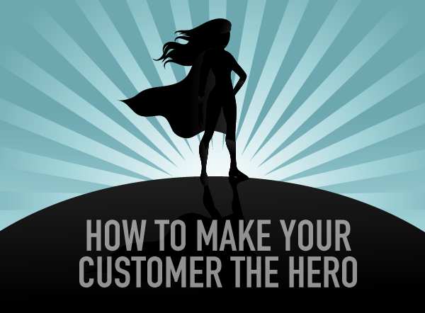 Advertising makes the brand the hero, whereas branding makes your customer the hero.