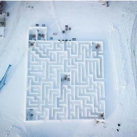 SNOW MAZING »  It took six weeks, 150 semi-truck loads of snow and 12 people working full time. When finished a Canadian was awarded a Guinness World Record for creating the largest snow maze ever. Who is the designer behind these wintery walls of snow?  Clint Masse, a Manitoba farmer, is no stranger to lifesize puzzles. In 1998 he turned a portion of his family farm, into a corn maze where @amazeincorn has been a fixture on the Manitoba landscape ever since. This winter, Instead of hibernating indoors on long cold Canadian nights, Masse turned on the creative juices and hatched a plan that garnered international attention.  Should you want to get lost in this Guinness sized winter wonder, you'll have to act quick. The last day of the Snow Maze is scheduled on Sunday, March 17 (weather permitting.)  #snowmaze #manitoba #lifesize #design #guinnesworldrecord