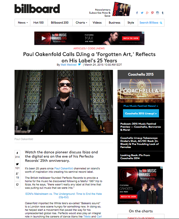 Billboard - Paul Oakenfold