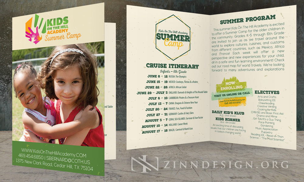 Kids on the Hill Academy Summer Camp Brochure