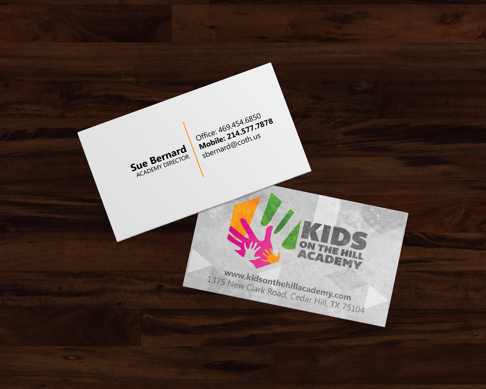 Kids on the Hill Academy Business Cards