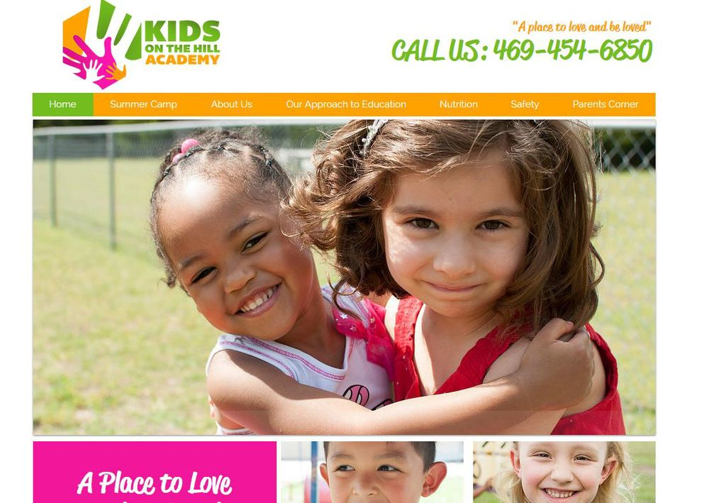 Kids on the Hill Academy Website