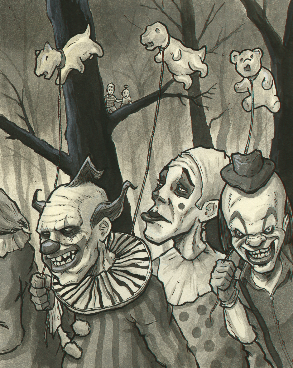 - After the zombies, some rather unsavory clowns with their gnashing balloons crept out of the crevasse.