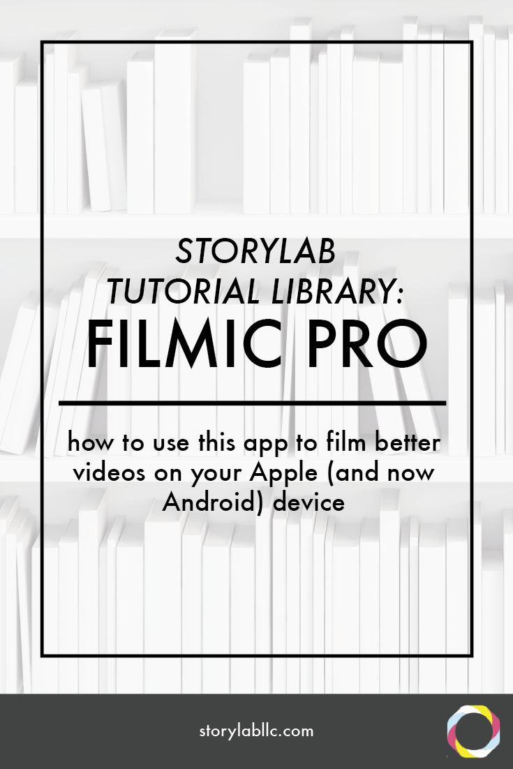 filmic pro, apple, android, tutorial, video, smartphone, video smartphone, content marketing, mobile storytelling, videography, storytelling, audio, apps, applications,