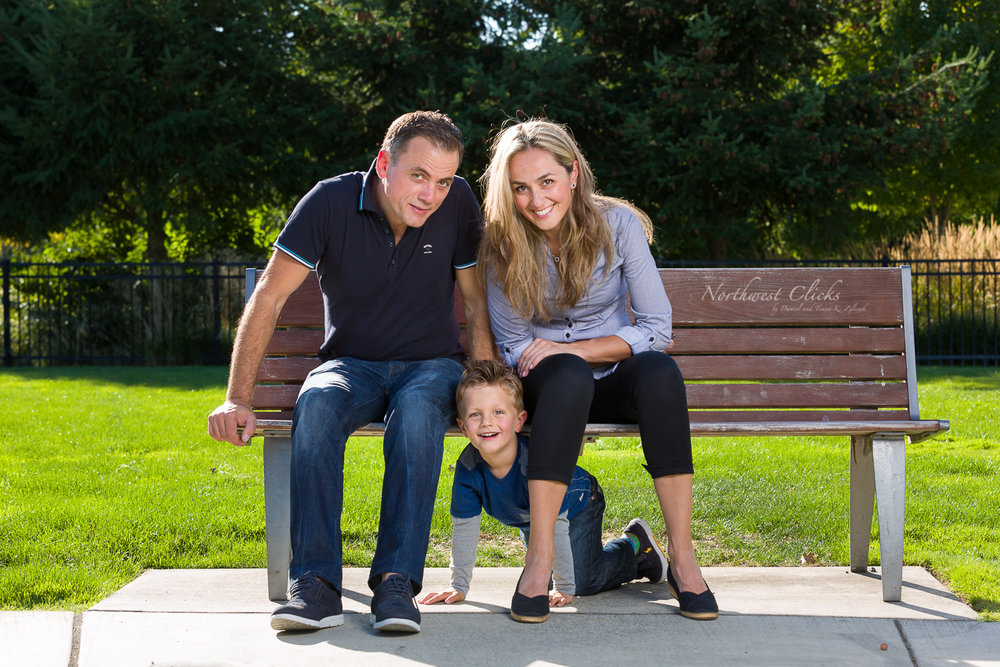 Edrik and his family on a photo session with us in Redmond, WA