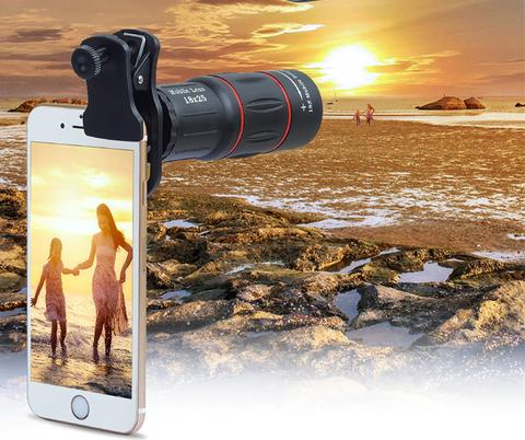 18X Zoom Telephoto Phone Lens - Telescope Lens is actually a revolutionary way of looking at phone cameras. It has less stray light and clearer image, as well as it can get 18 times as close to the shooting object, with an adjustable zoom.