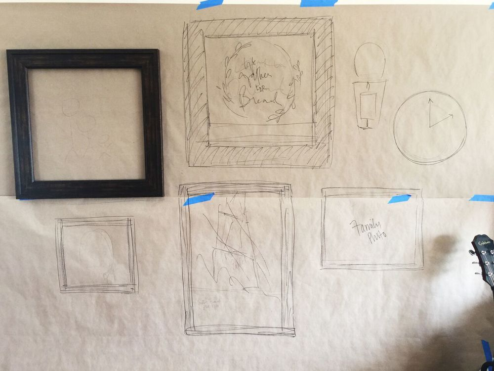how to plan a gallery wall