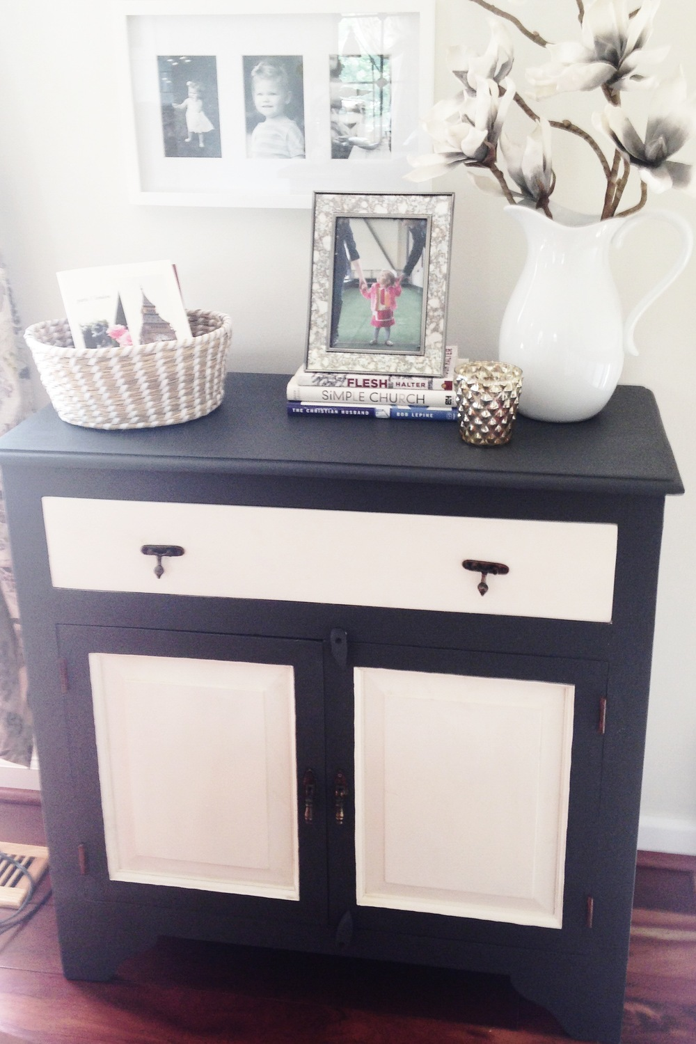 cabinet with chalk paint
