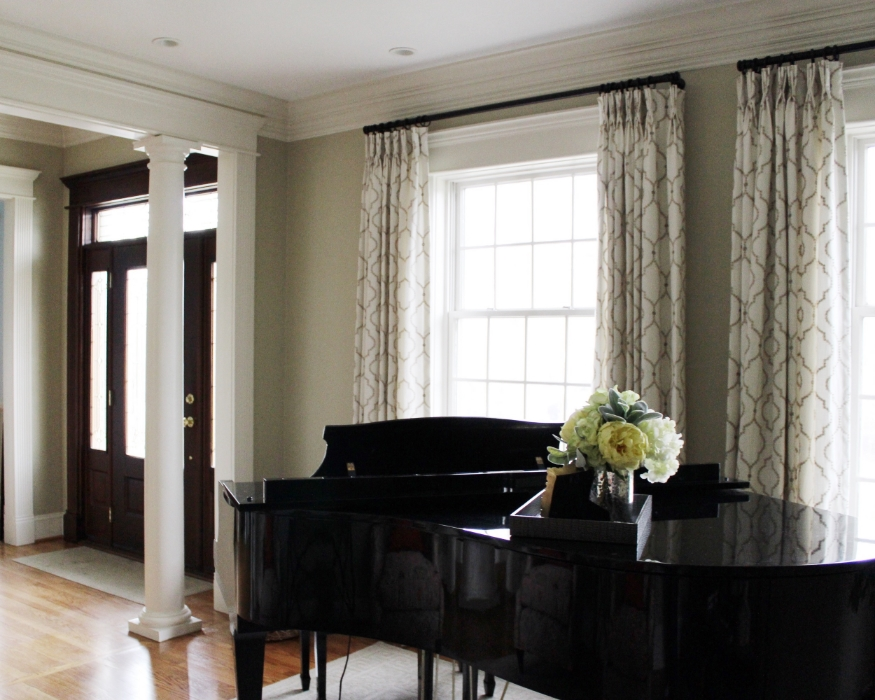 Traditional Piano Room Interior Design Chicago