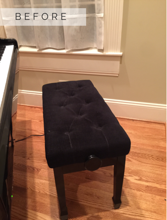 Piano Bench Reupholstery