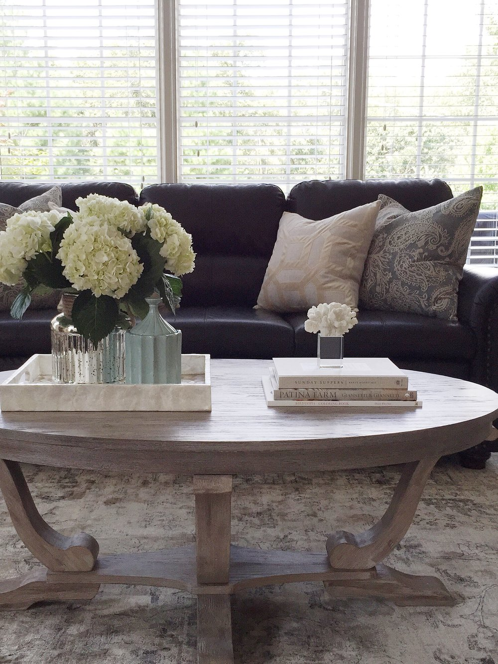 Coastal Living Room Styling- Laura Design Company