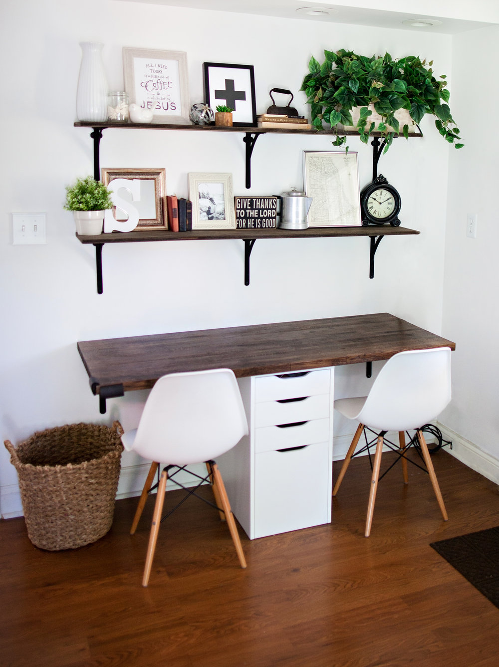 Farmhouse Kitchen Office Nook- Laura Design Co.