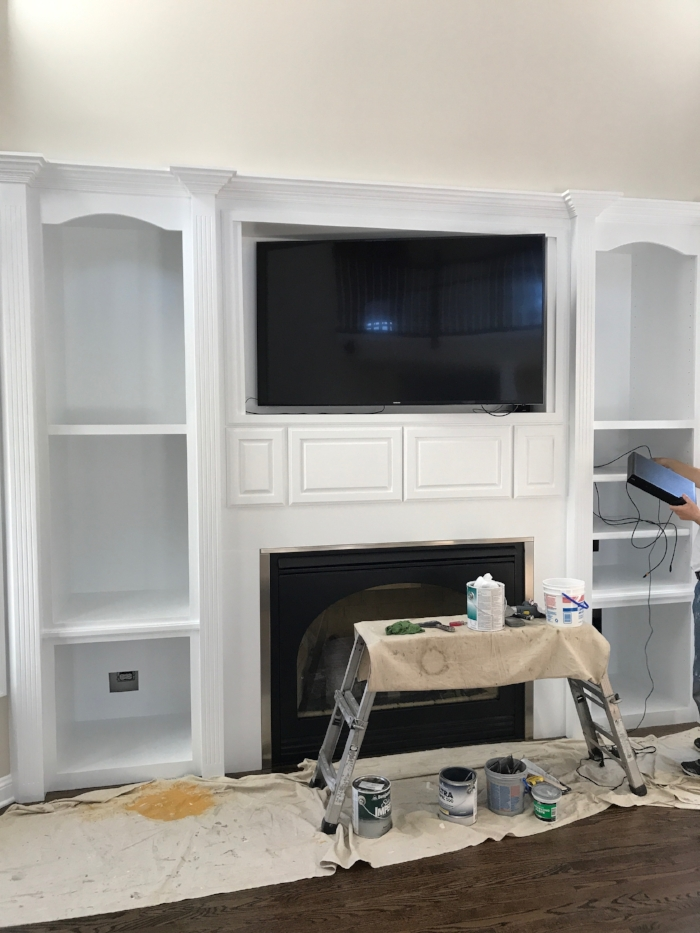 Built-Ins in progress - with new paint!