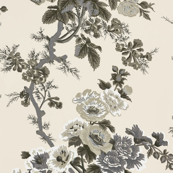 Schumacher Hollyhock Pyne Charcoal