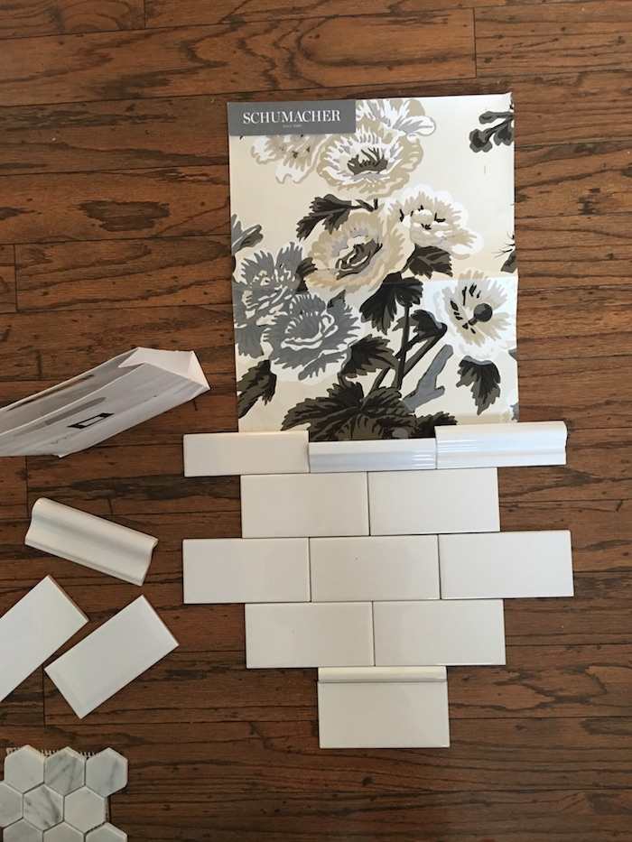 Subway tile cornice options - Laura Design Co.