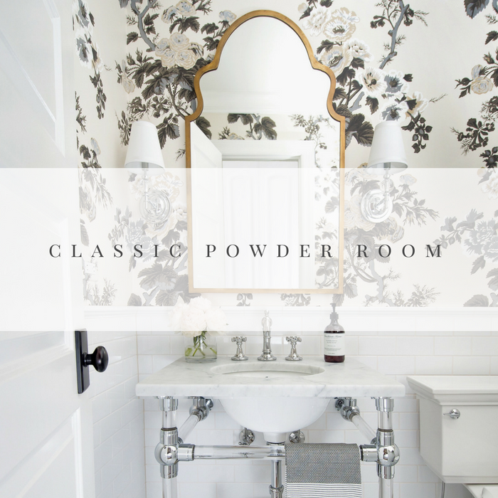 One Room Challenge Powder Room by Laura Design Co.