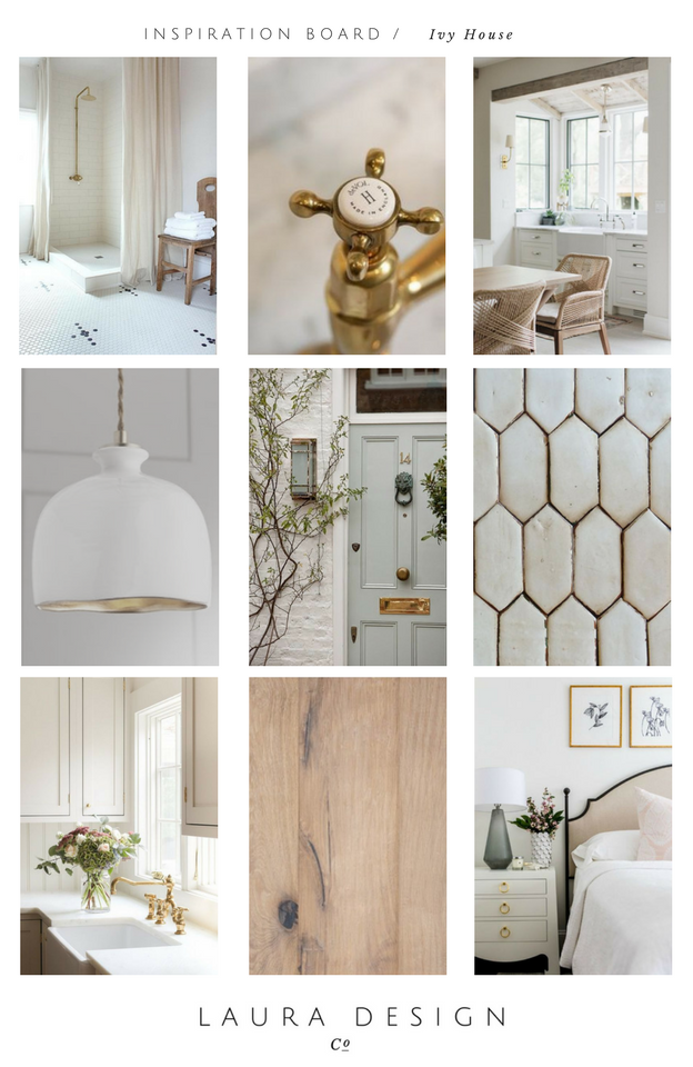 Interior Design Inspiration Board- Laura Design Co. Full-Home New Construction