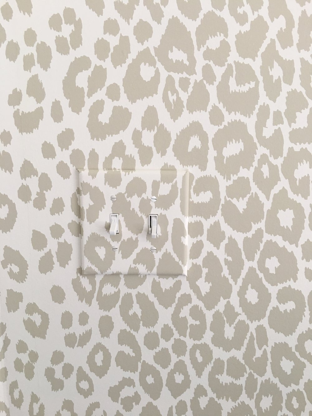 Wallpaper Switch Plate Cover, Schumacher Iconic Leopard | Laura Design Co.