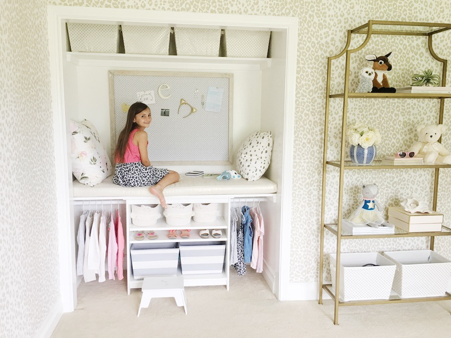 Girls Room Closet Makeover Kids Room Reading Nook DIY Closet Bunk Bed