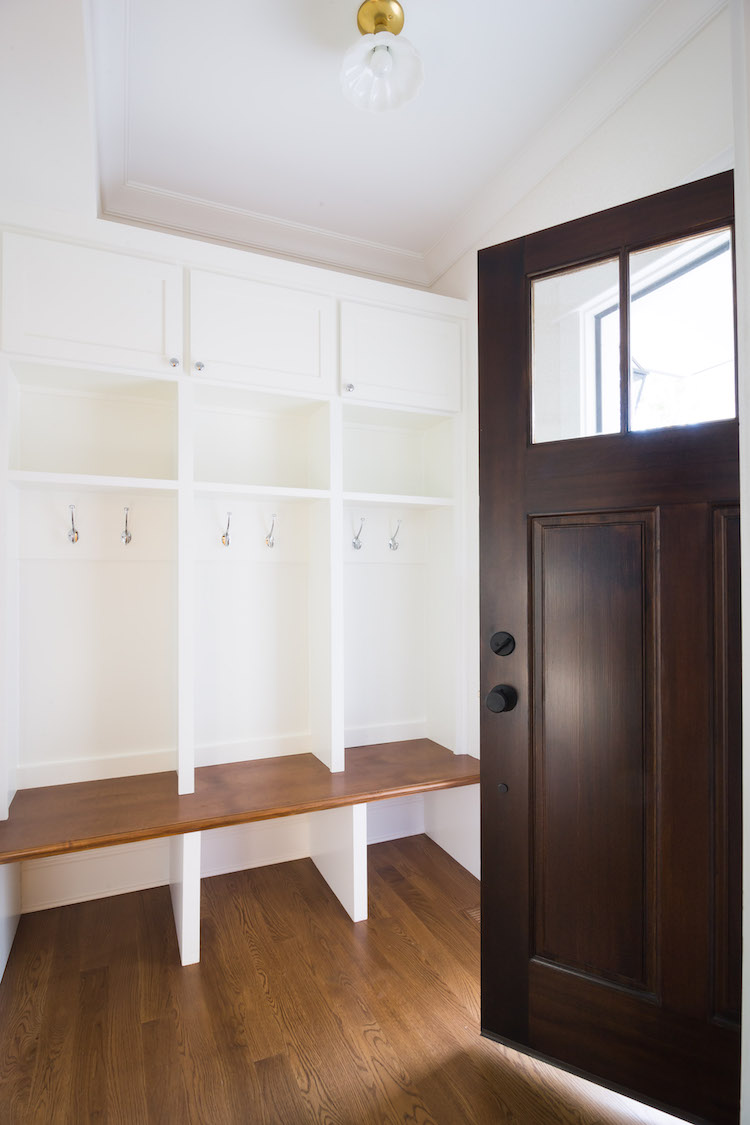 Built-in Mudroom Lockers, Interior Design by Laura Design Co.