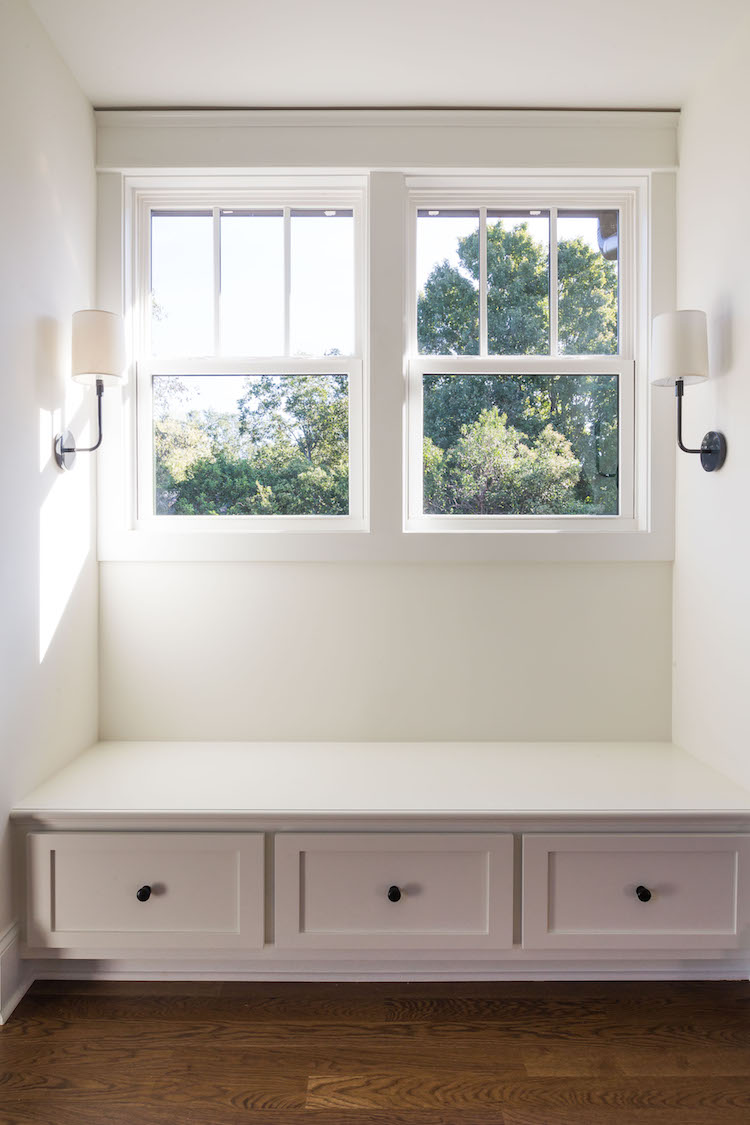 Built in window seat- Interior Design by Laura Design Co.