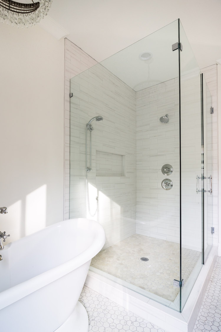 Master Bathroom Design by Laura Design Co.