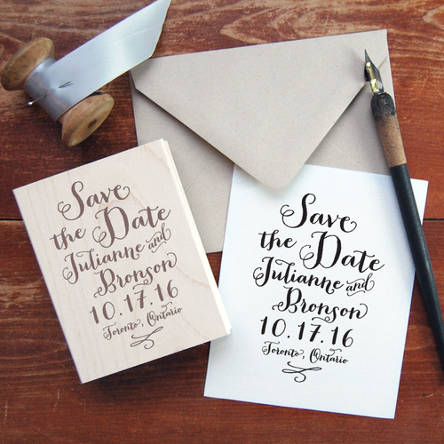 Save The Date Stamp 2 PaperLux Fine Stationery